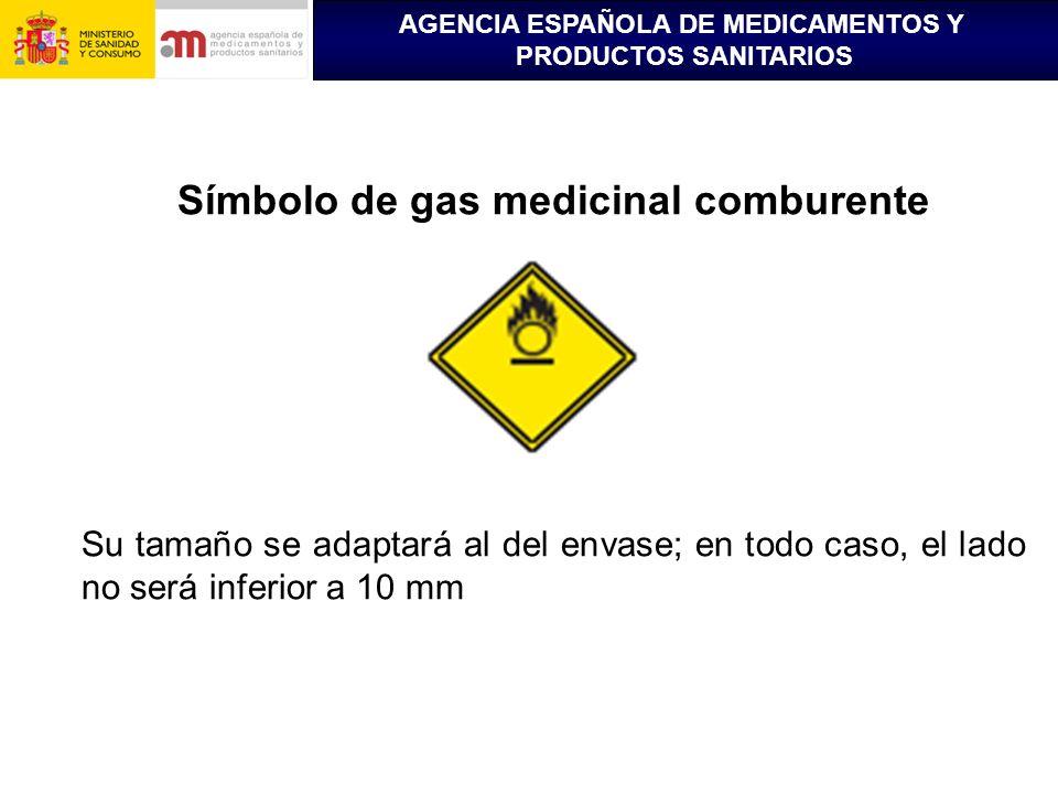 Símbolo de gas medicinal comburente