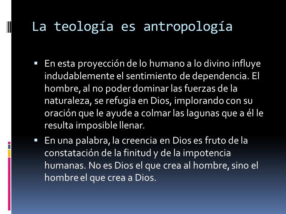 La teología es antropología