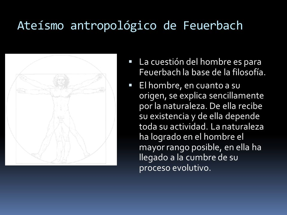 Ateísmo antropológico de Feuerbach