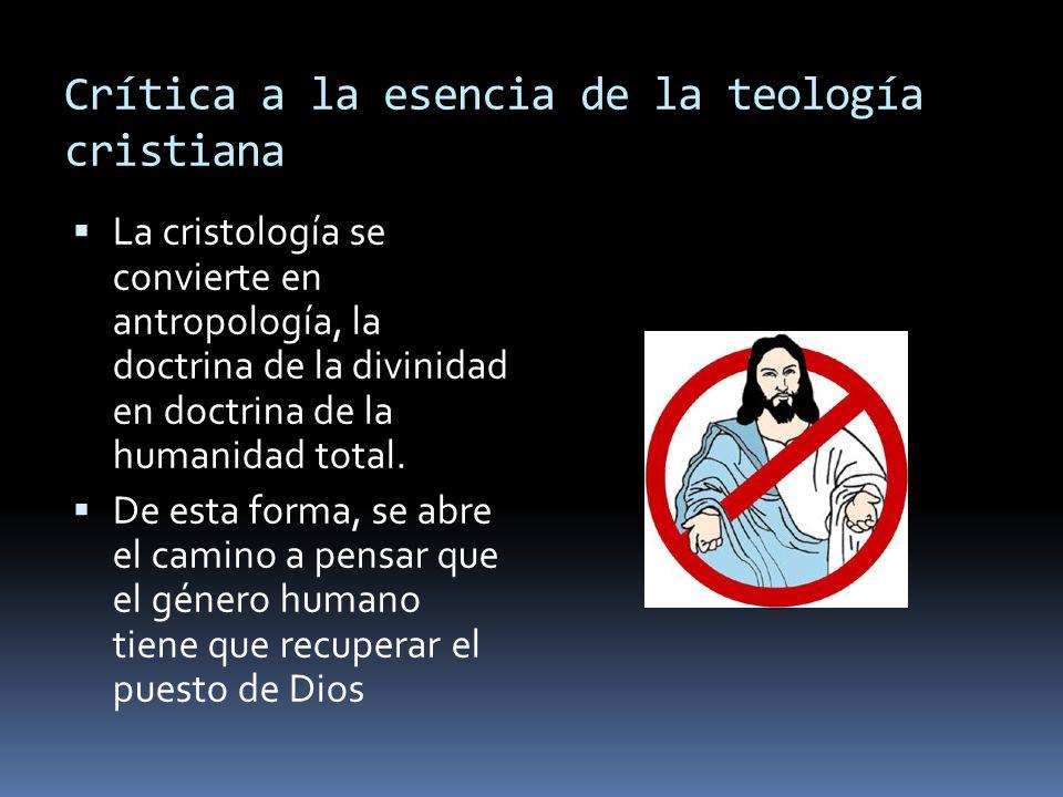 Crítica a la esencia de la teología cristiana