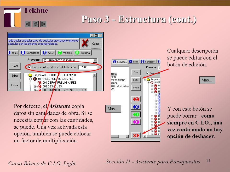 Paso 3 - Estructura (cont.)