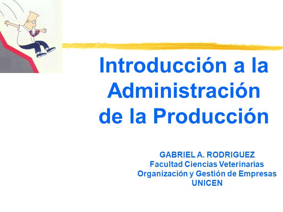 Introducción a la Administración de la Producción