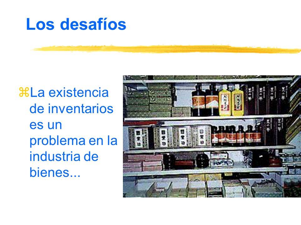 Los desafíos La existencia de inventarios es un problema en la industria de bienes...