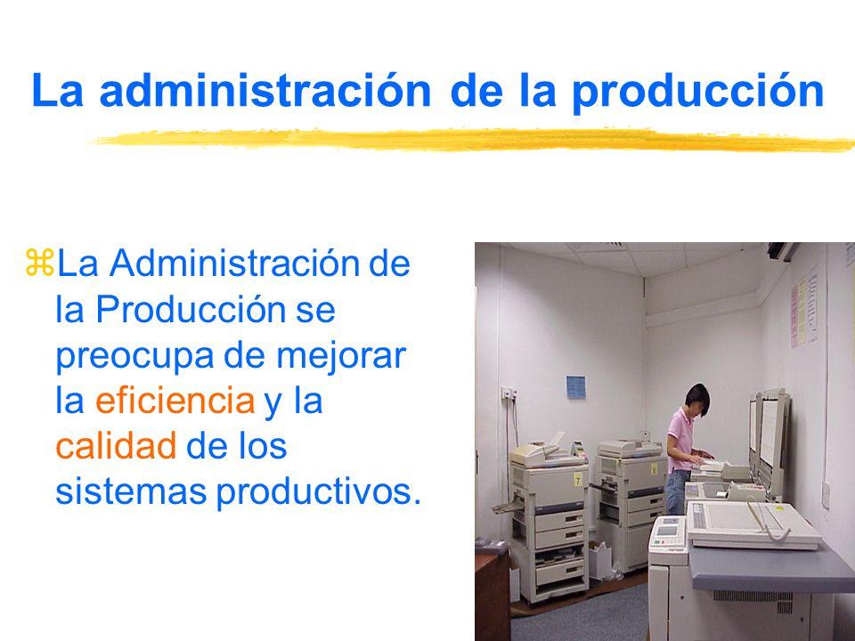 La administración de la producción