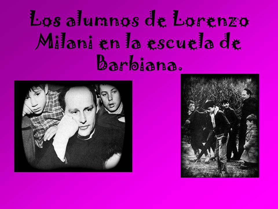 Los alumnos de Lorenzo Milani en la escuela de Barbiana.