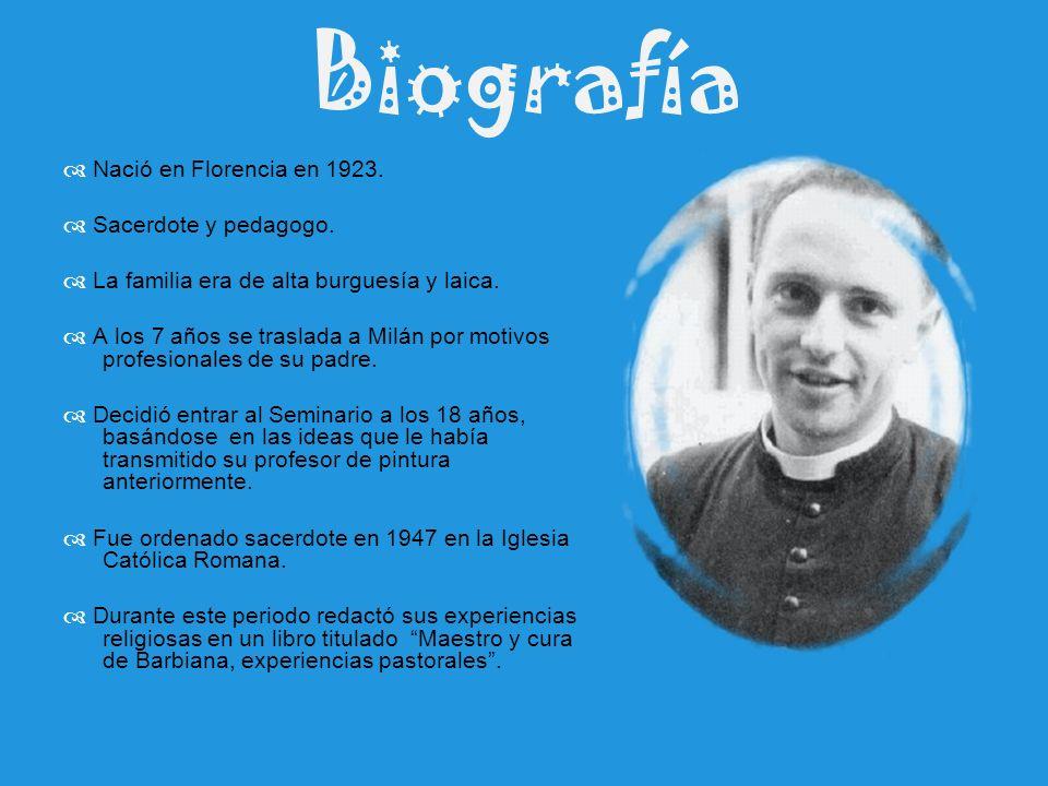 Biografía  Nació en Florencia en 1923.  Sacerdote y pedagogo.