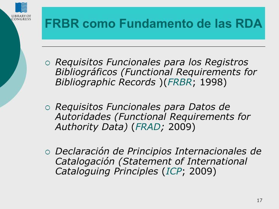 FRBR como Fundamento de las RDA