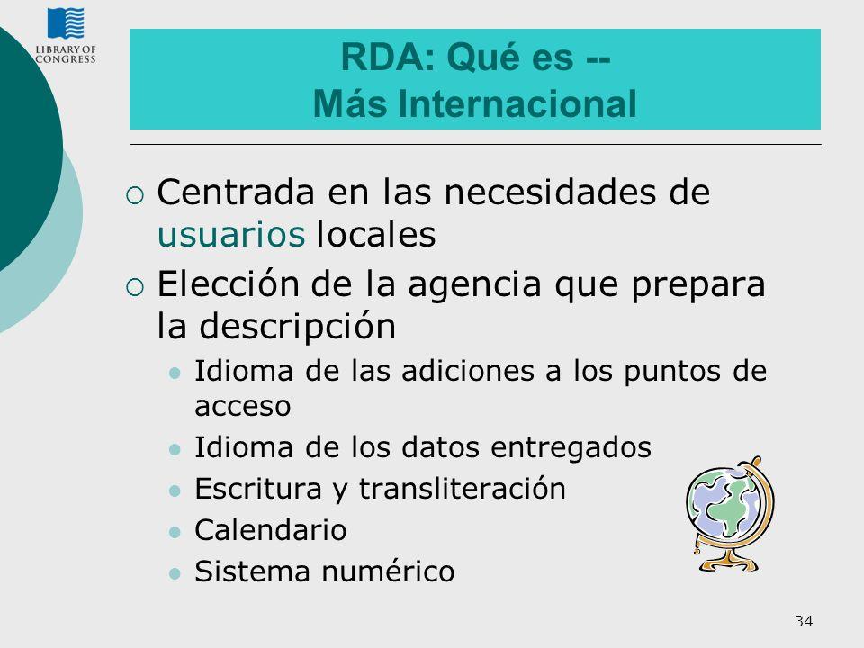 RDA: Qué es -- Más Internacional