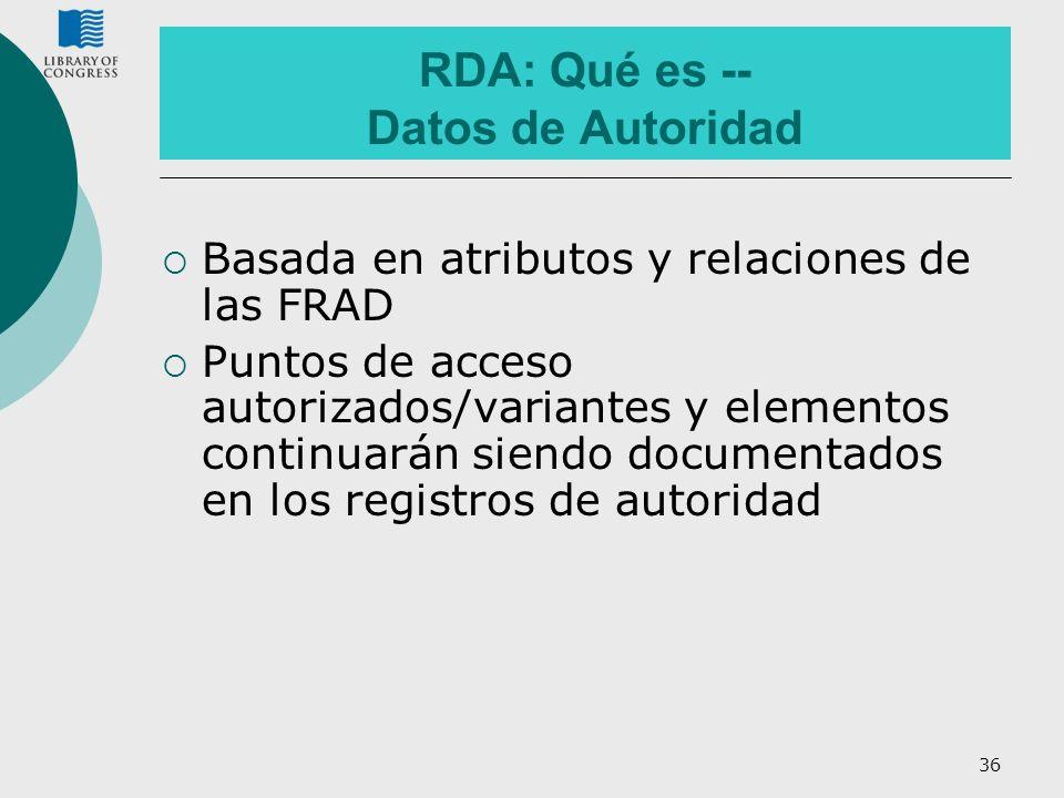 RDA: Qué es -- Datos de Autoridad