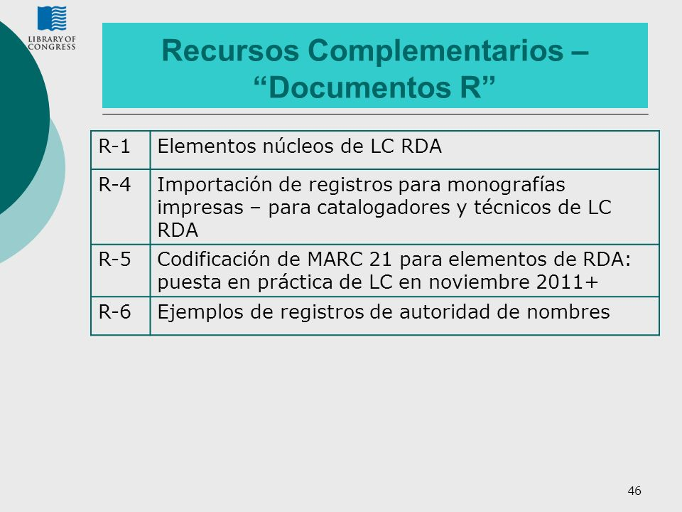 Recursos Complementarios – Documentos R