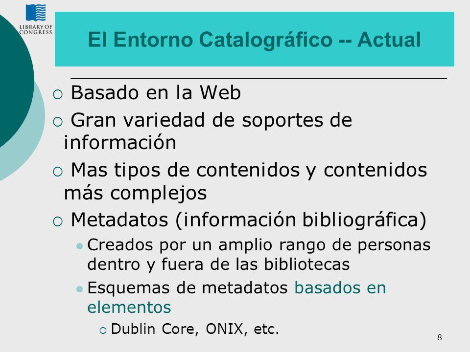 El Entorno Catalográfico -- Actual
