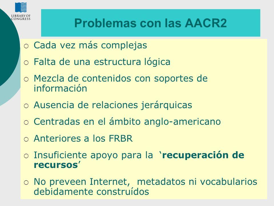 Problemas con las AACR2 Cada vez más complejas
