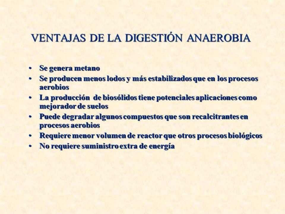 VENTAJAS DE LA DIGESTIÓN ANAEROBIA