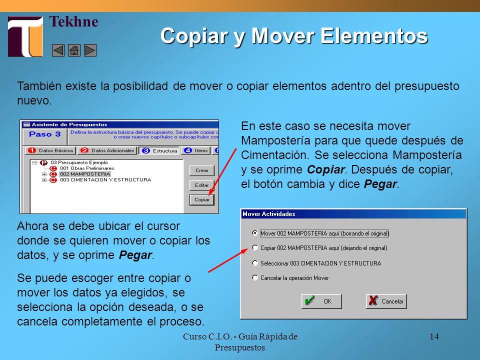 Copiar y Mover Elementos