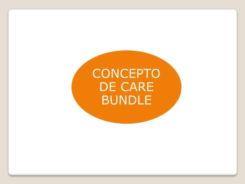 CONCEPTO DE CARE BUNDLE
