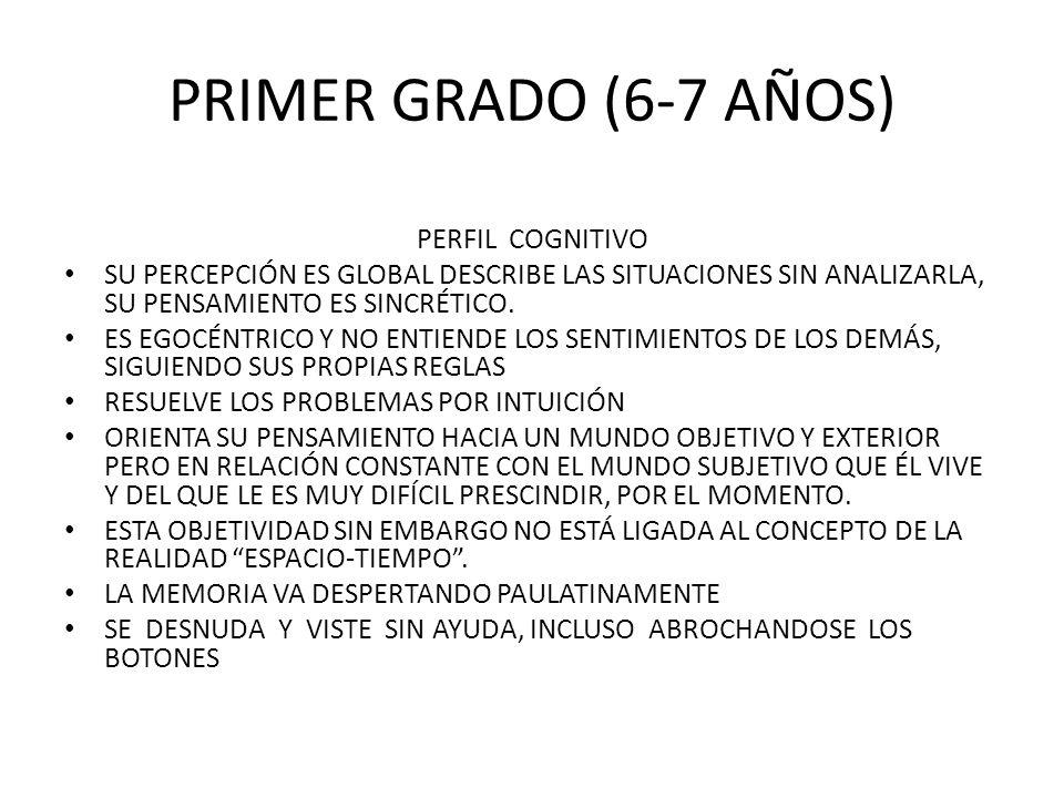 PRIMER GRADO (6-7 AÑOS) PERFIL COGNITIVO