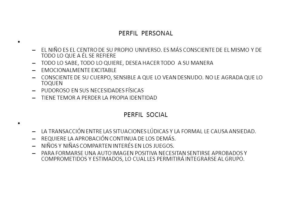 PERFIL PERSONAL PERFIL SOCIAL