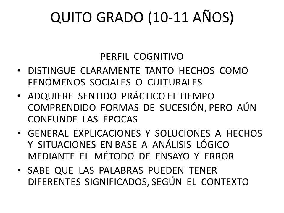 quito grado (10-11 años) perfil cognitivo