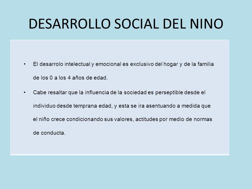 DESARROLLO SOCIAL DEL NINO