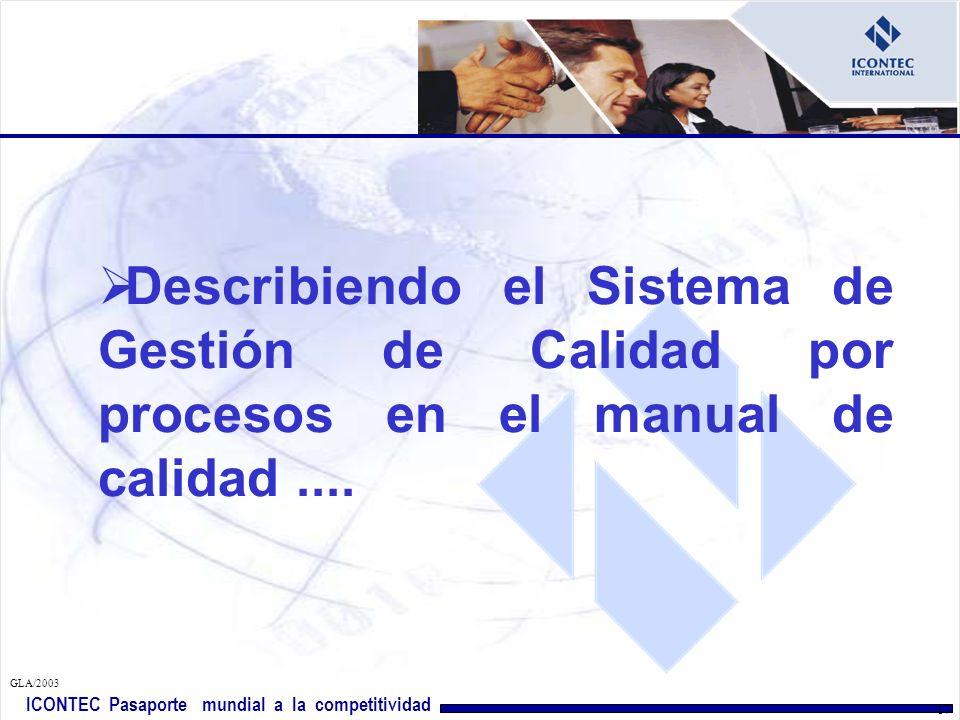 Describiendo el Sistema de Gestión de Calidad por procesos en el manual de calidad ....