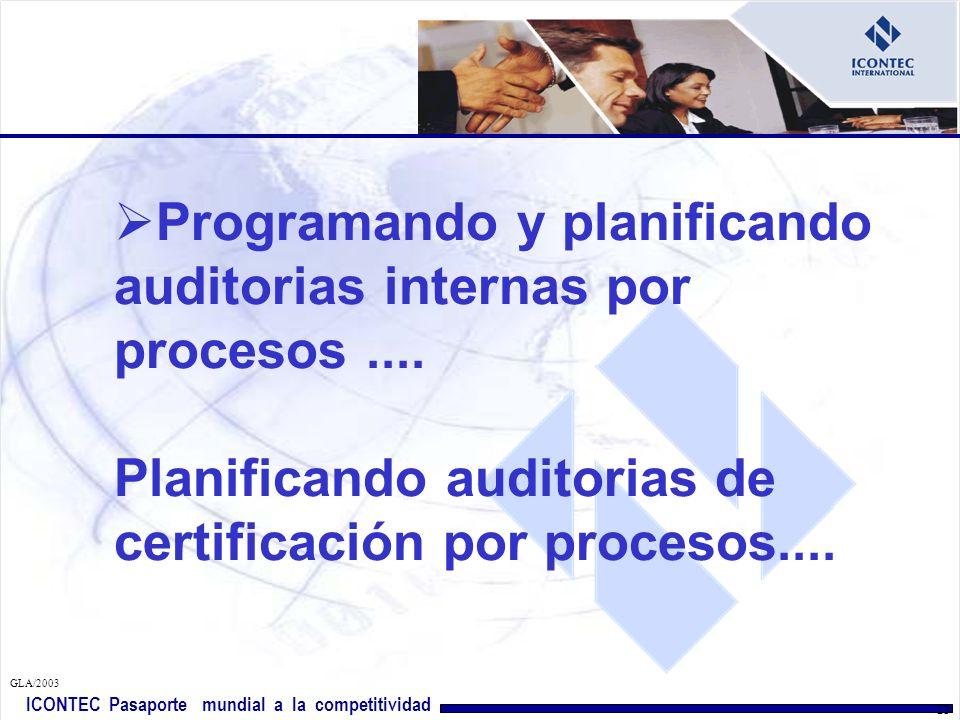 Programando y planificando auditorias internas por procesos