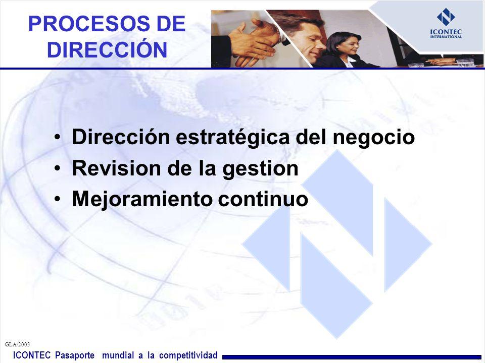 Dirección estratégica del negocio Revision de la gestion