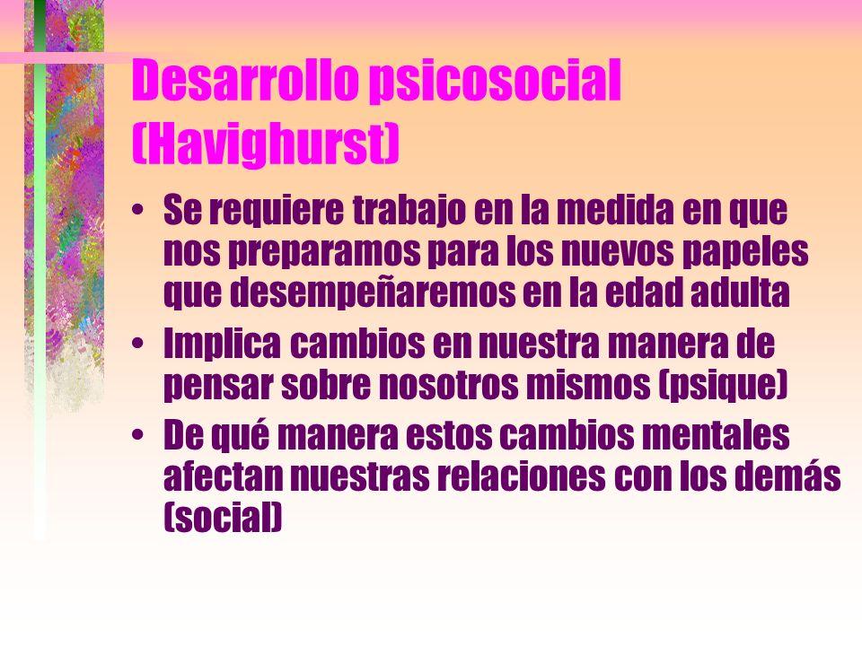 Desarrollo psicosocial (Havighurst)