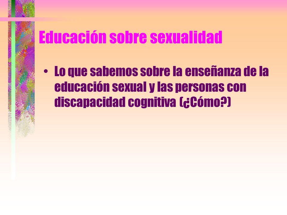 Educación sobre sexualidad