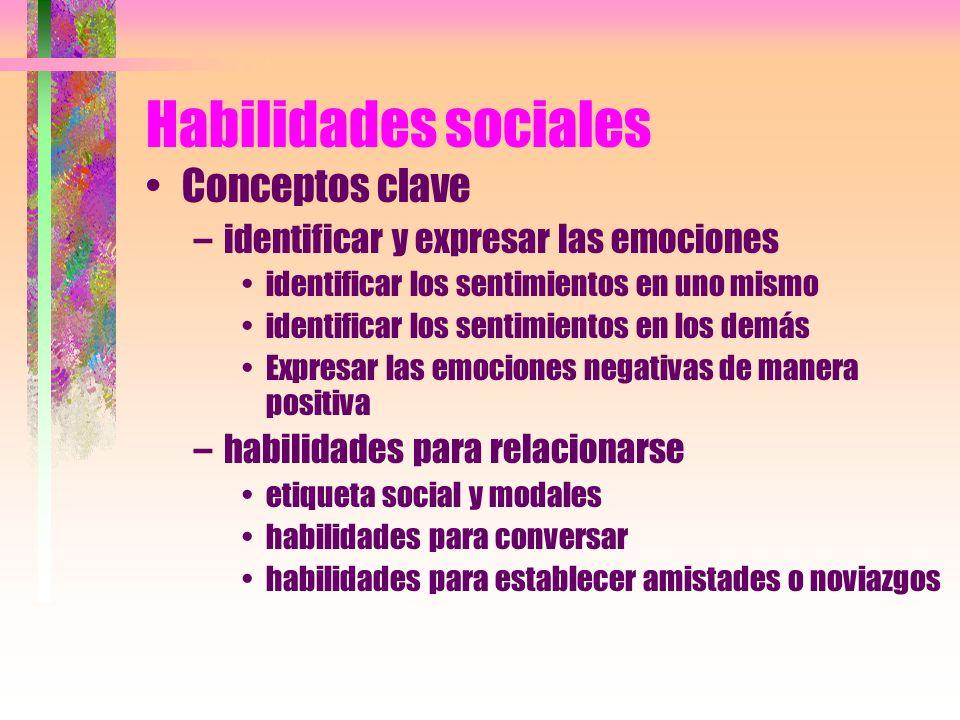 Habilidades sociales Conceptos clave