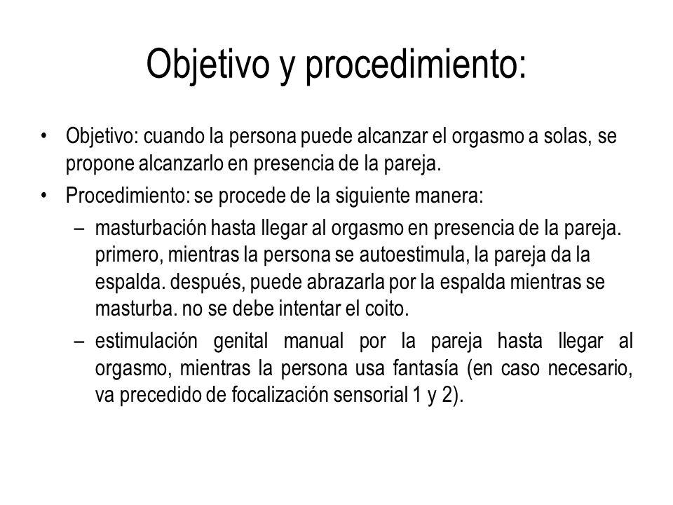 Objetivo y procedimiento: