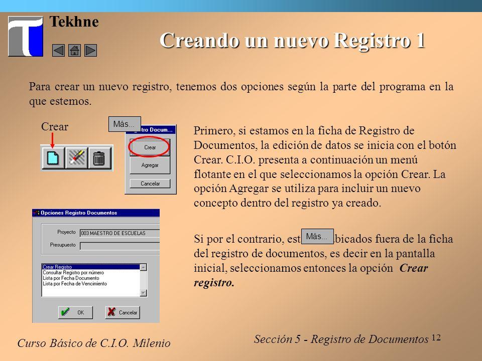 Creando un nuevo Registro 1