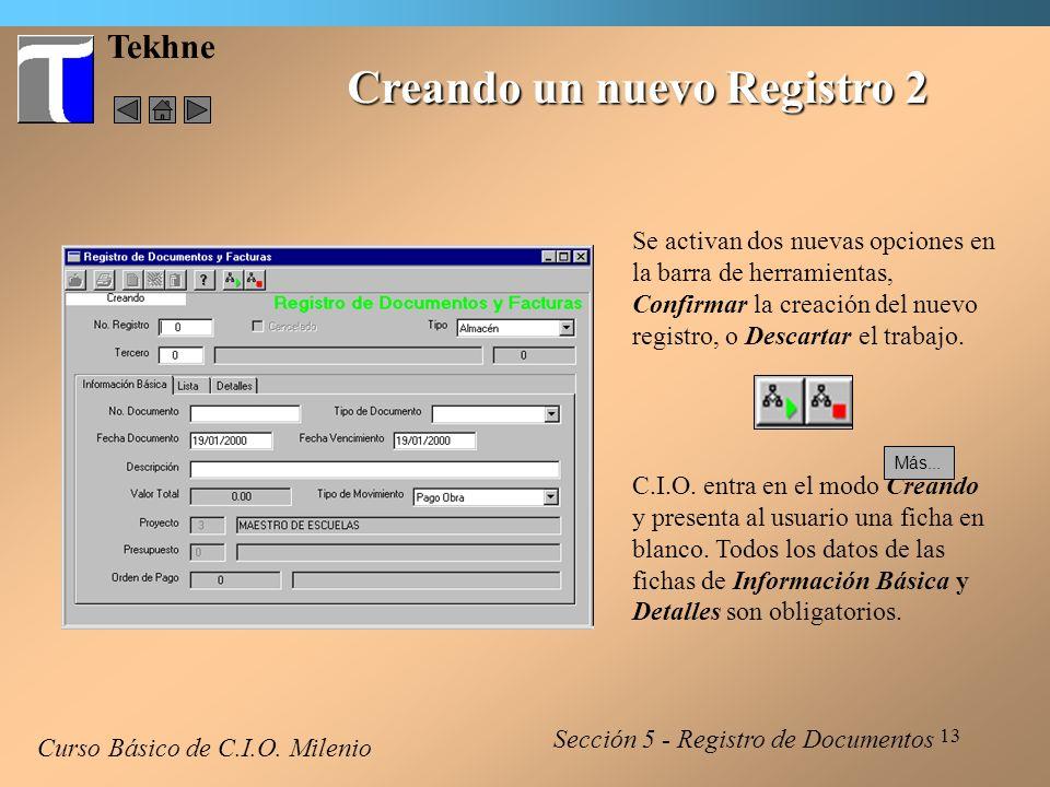 Creando un nuevo Registro 2