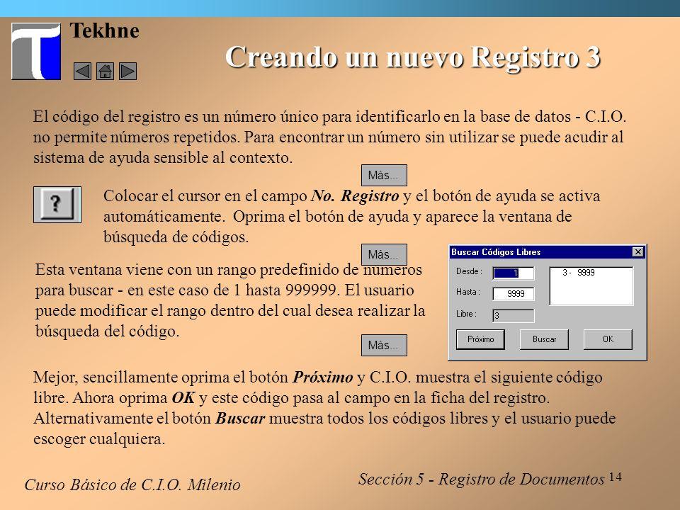 Creando un nuevo Registro 3
