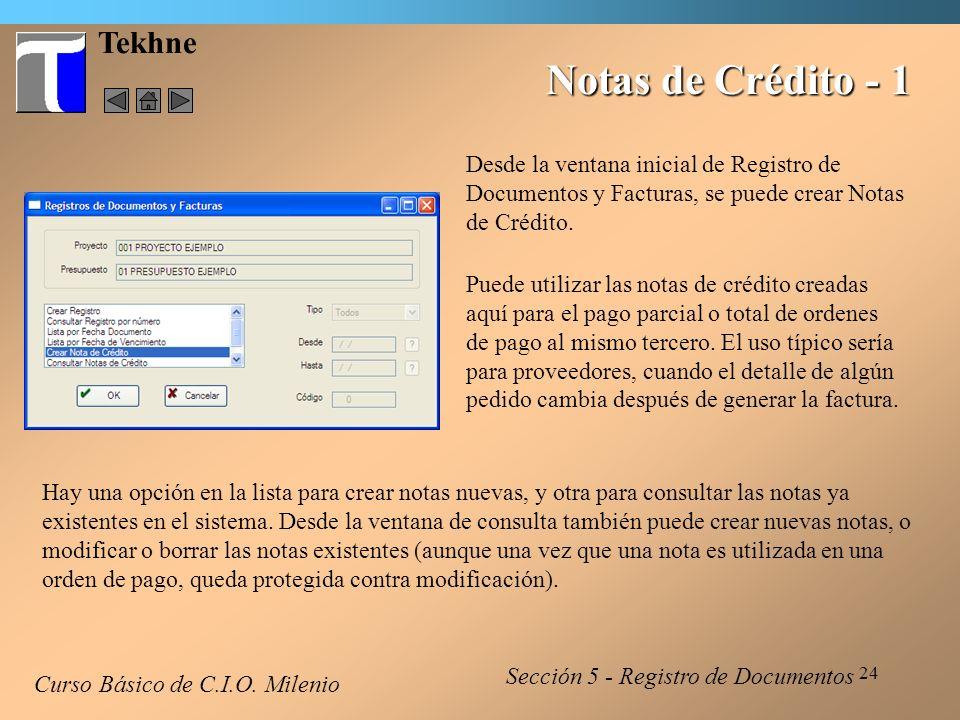 Notas de Crédito - 1 Tekhne