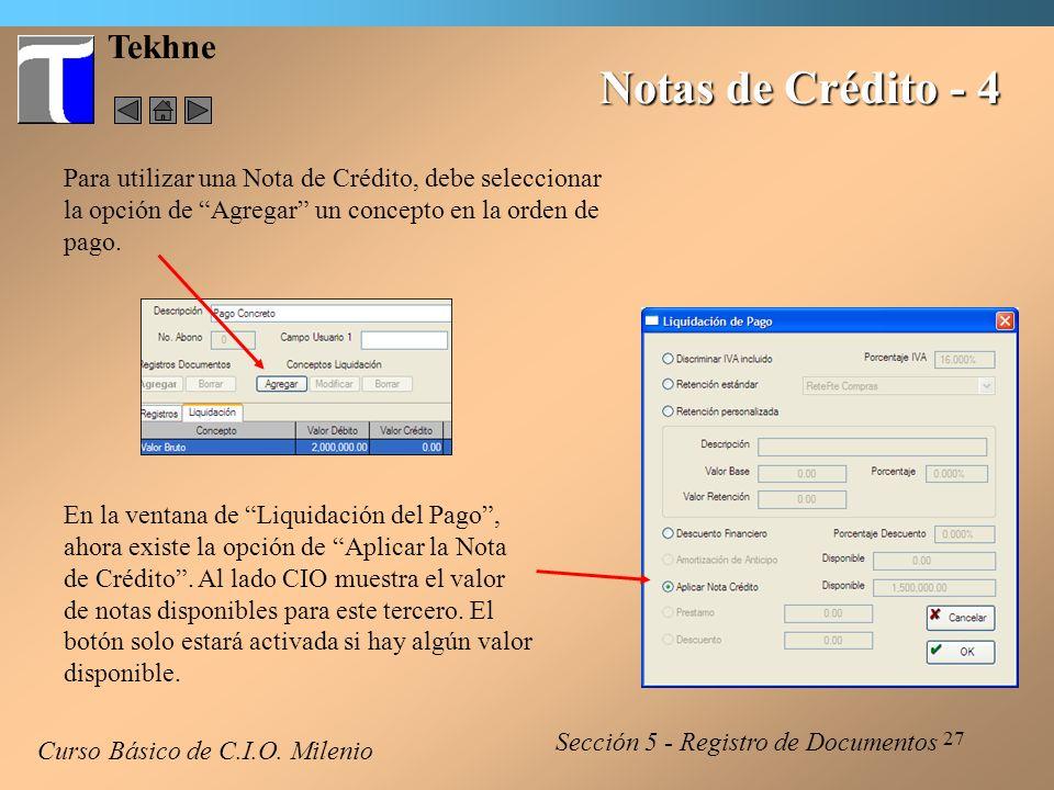 Notas de Crédito - 4 Tekhne
