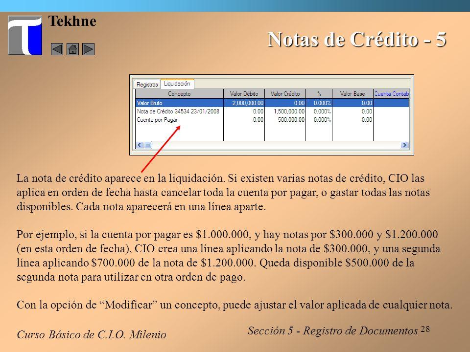 Notas de Crédito - 5 Tekhne
