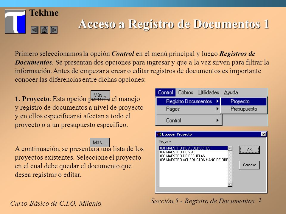 Acceso a Registro de Documentos 1