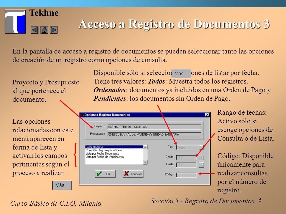 Acceso a Registro de Documentos 3