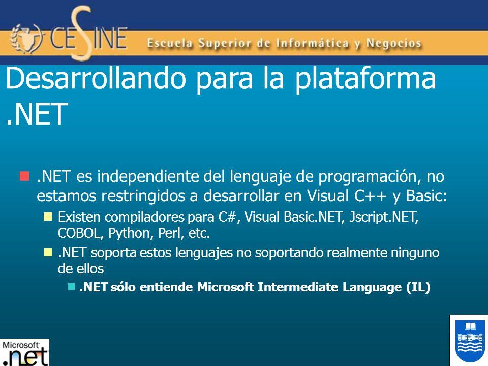 Desarrollando para la plataforma .NET