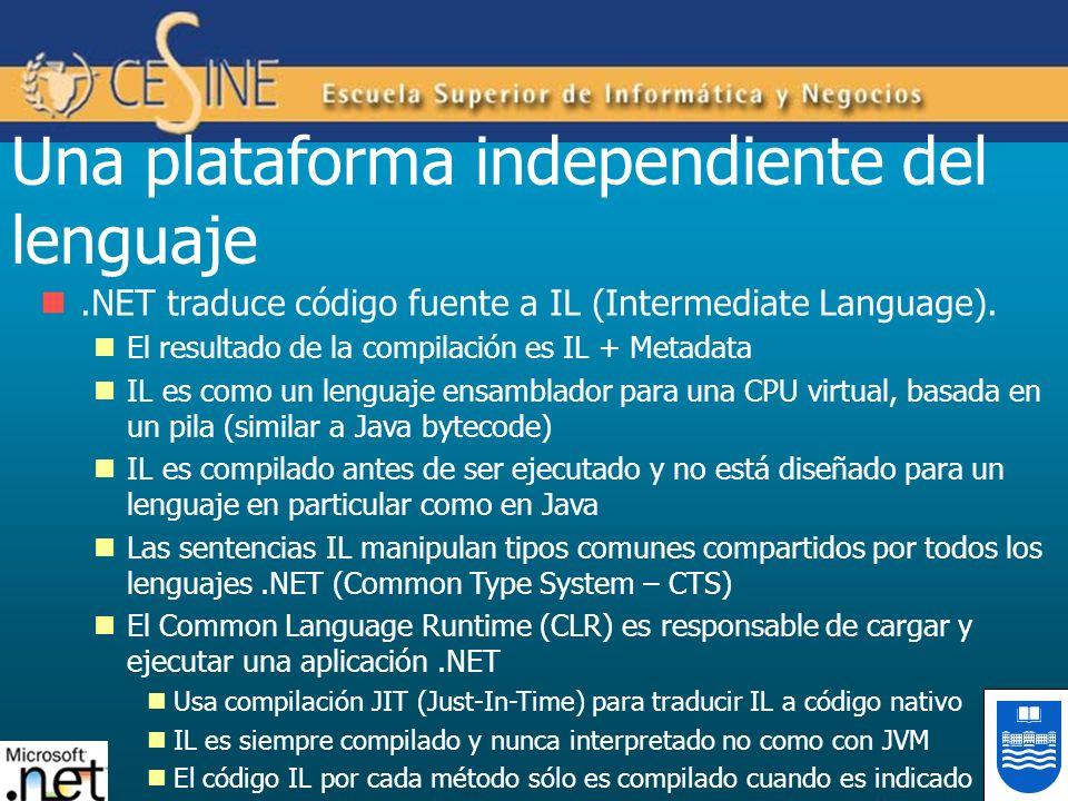 Una plataforma independiente del lenguaje