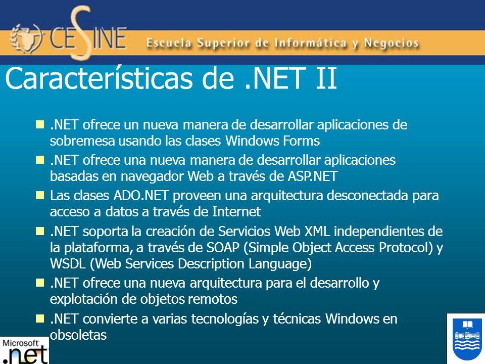 Características de .NET II
