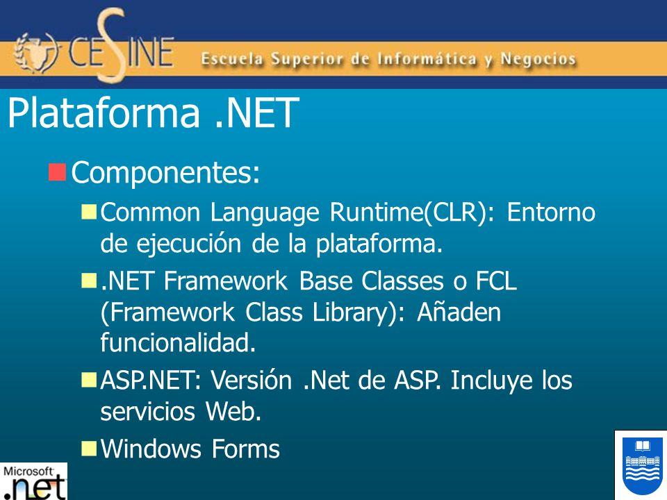 Plataforma .NET Componentes: