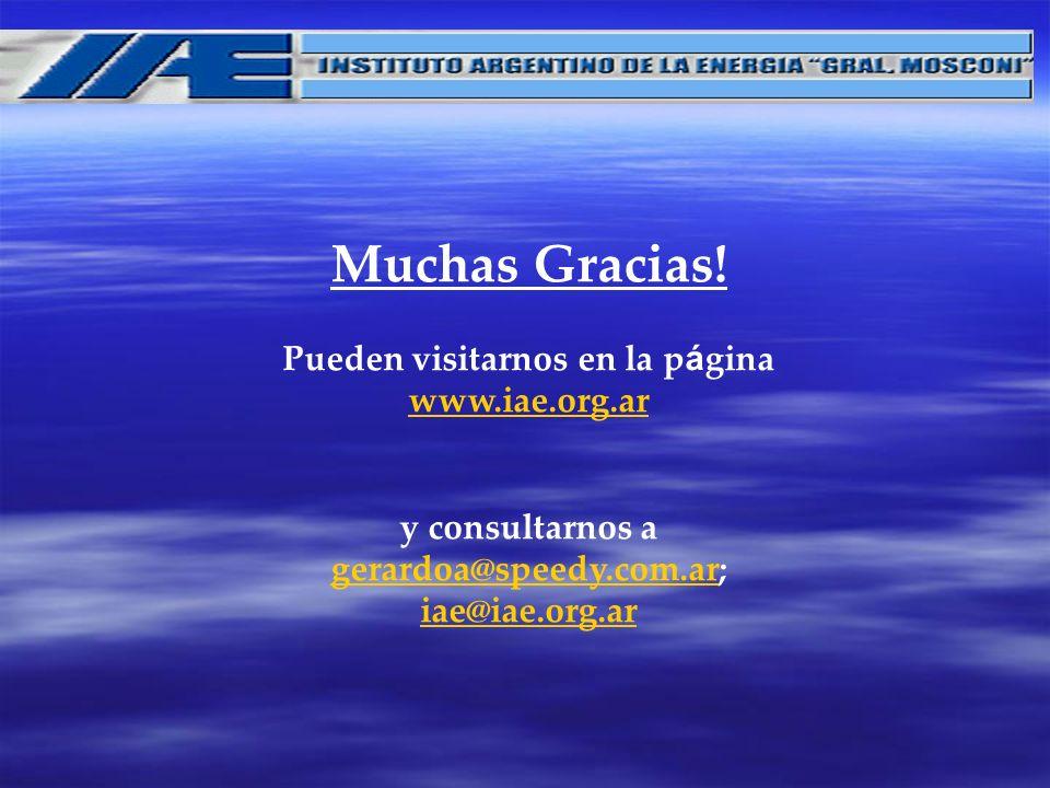 Muchas Gracias. Pueden visitarnos en la página www. iae. org
