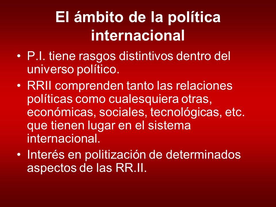 El ámbito de la política internacional