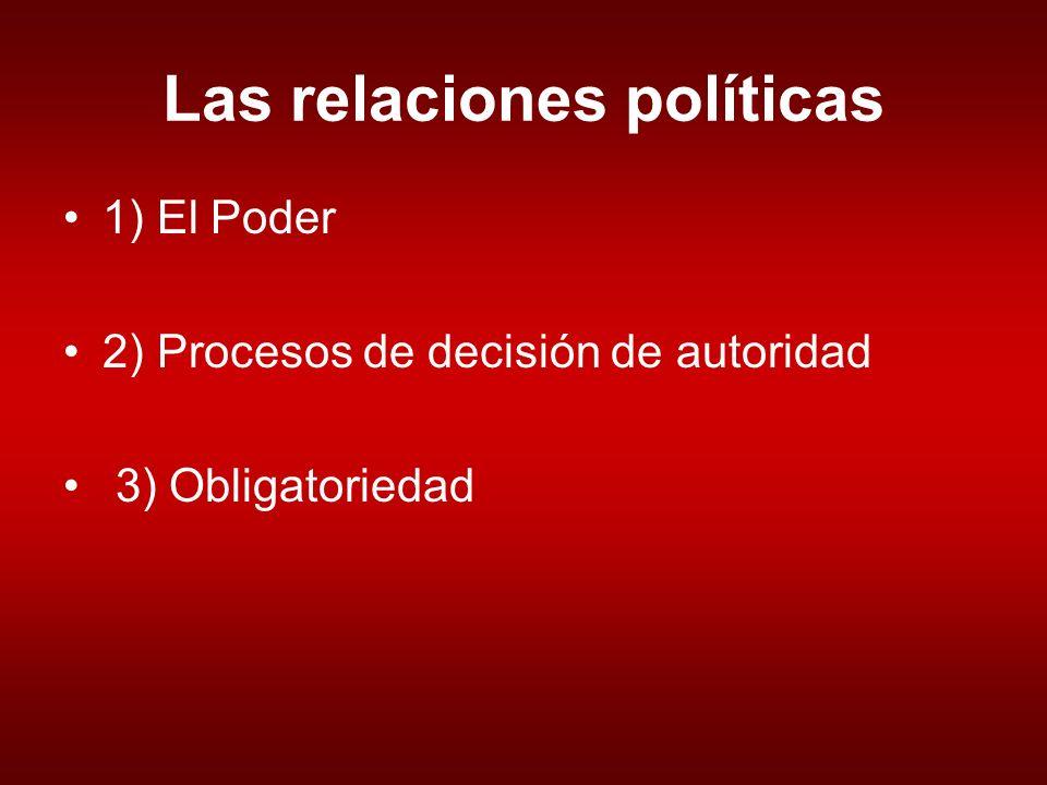 Las relaciones políticas