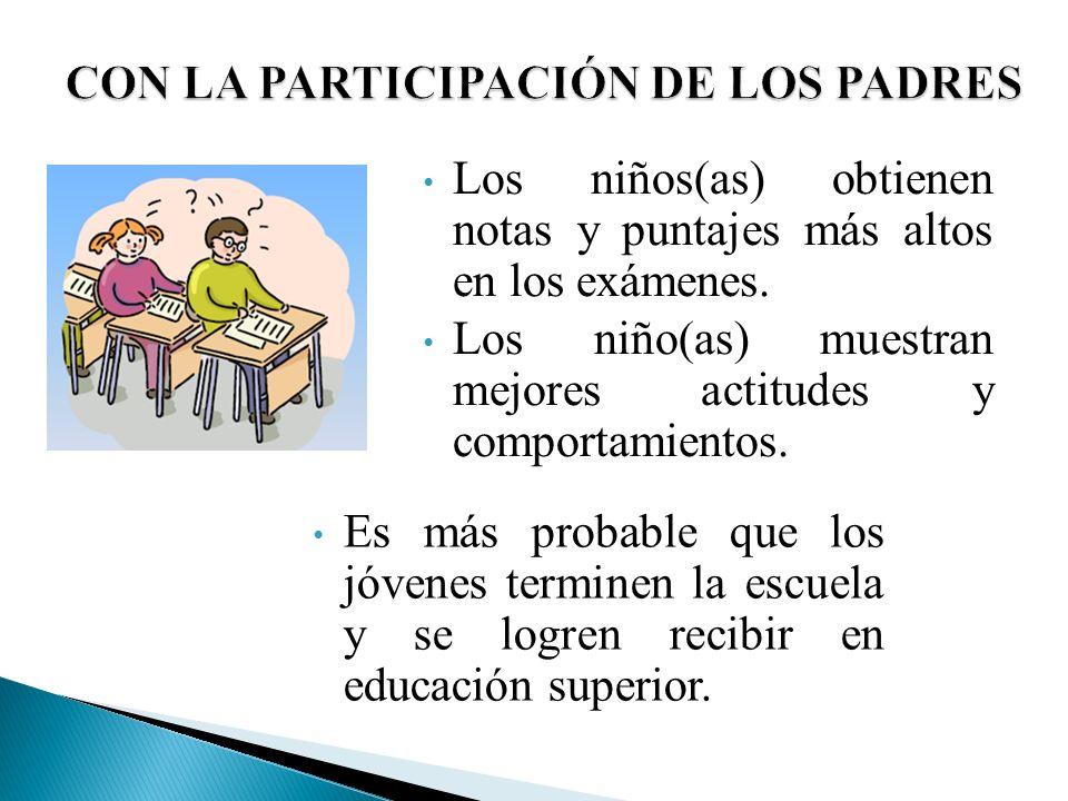 CON LA PARTICIPACIÓN DE LOS PADRES