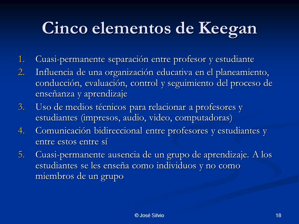 Cinco elementos de Keegan