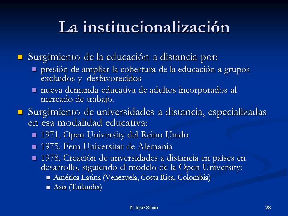 La institucionalización