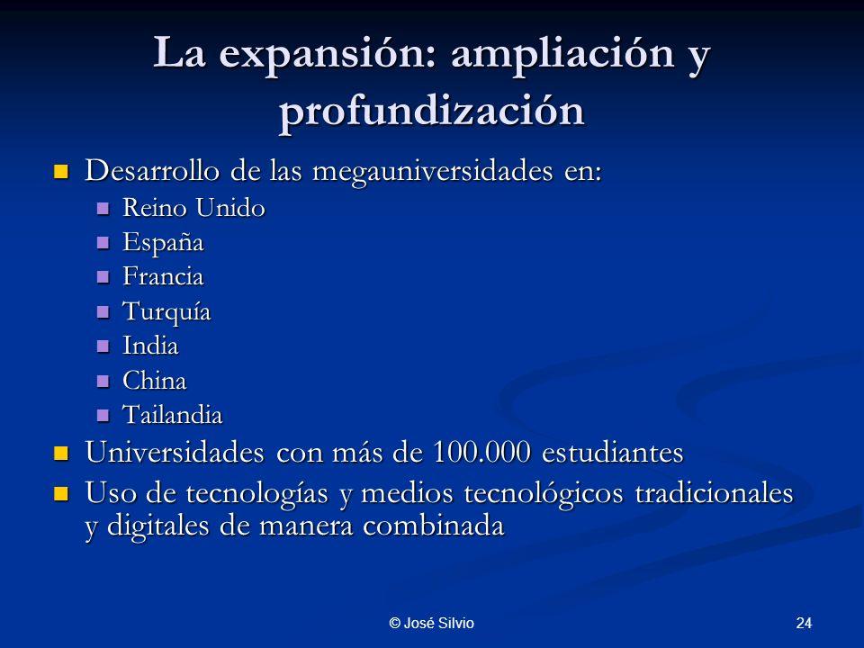 La expansión: ampliación y profundización