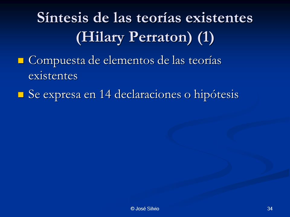 Síntesis de las teorías existentes (Hilary Perraton) (1)